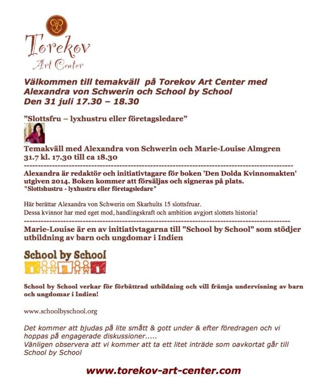 Torekov Art Center och School by School 31 juni 14-2 kopia